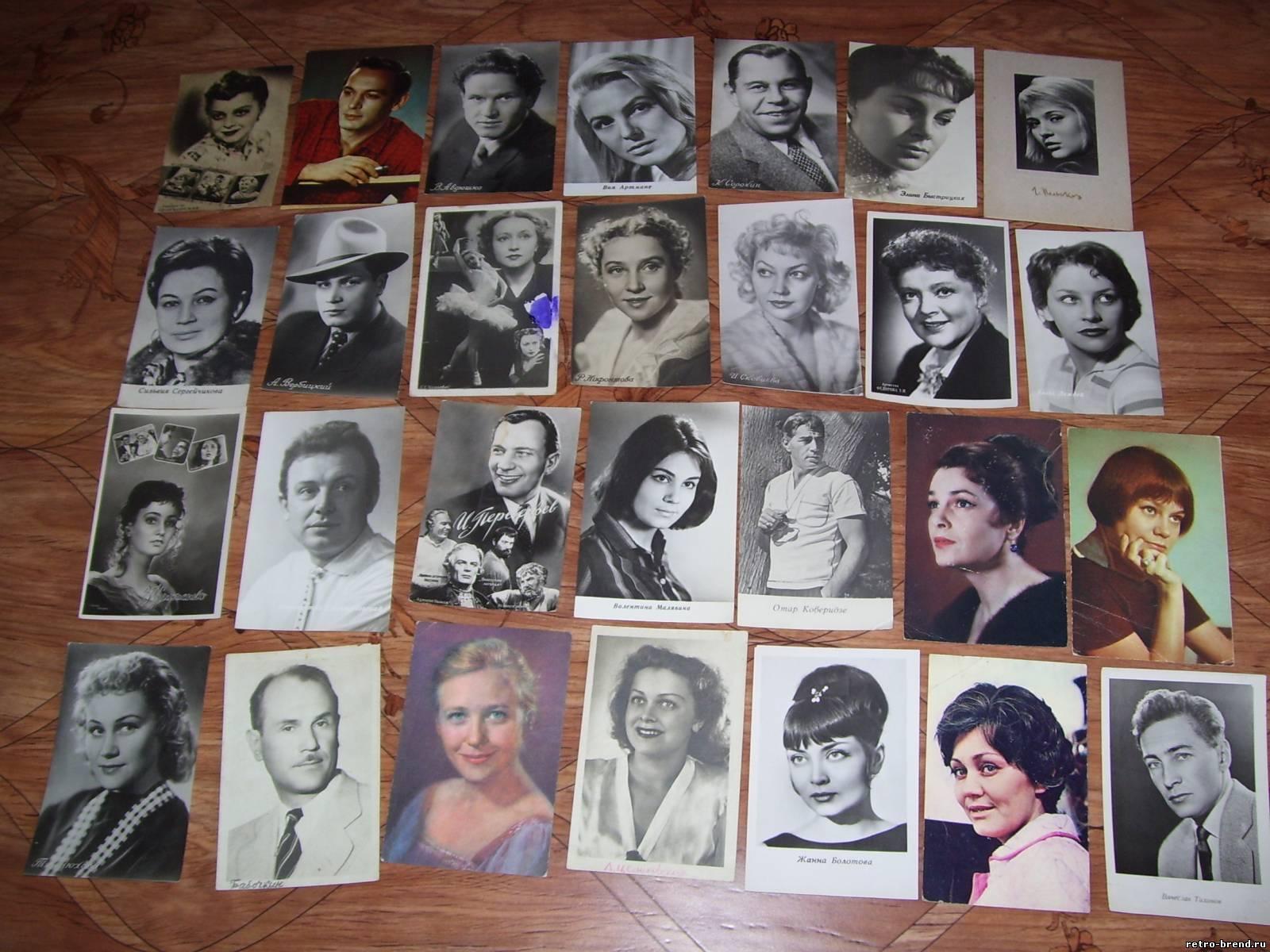 Советские фотографии-открытки артистов, 60-70 гг купить в 35